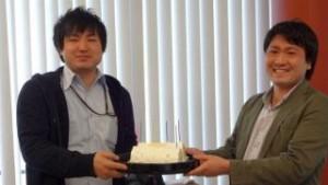 齋藤さんの誕生日のお祝い